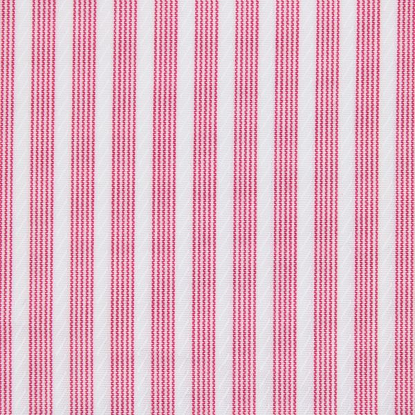 Fuscia Red Stripe shirt fabric t301