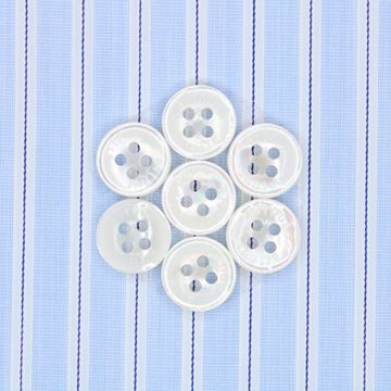 White and Navy Satin Stripes shirt fabric T300