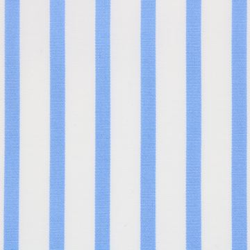 Blue on White Stripe shirt fabric T237