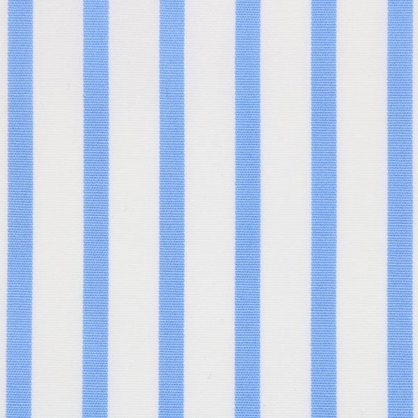 Blue on White Stripe shirt fabric T237