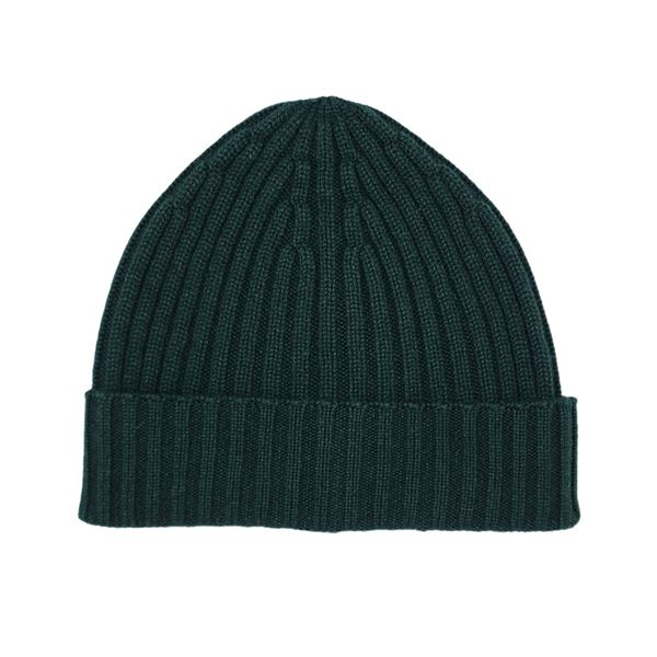 Forest Green cashmere tuque piacenza