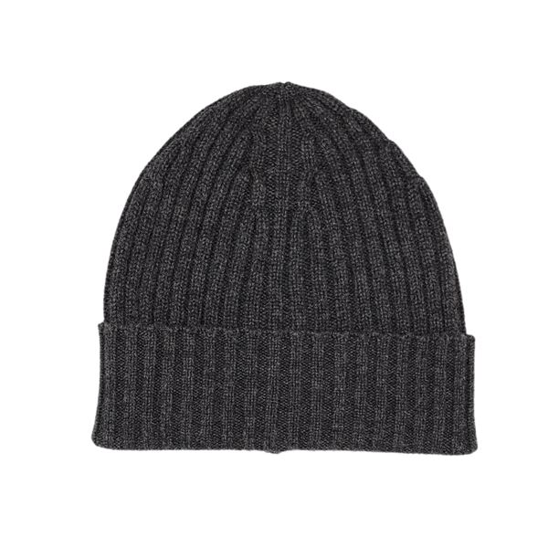 Charcoal cashmere tuque piacenza