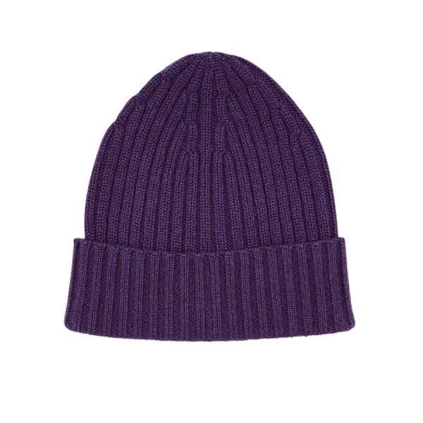 Purple cashmere tuque piacenza