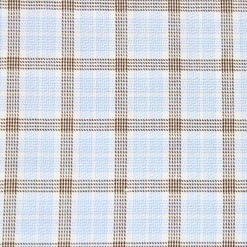 Cashmere/Cotton Blue and brown checks A1081
