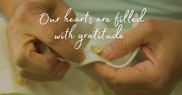 Our hearts are filled with gratitude